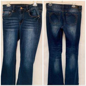 Twentyone Black Mid Rise Flare Jeans